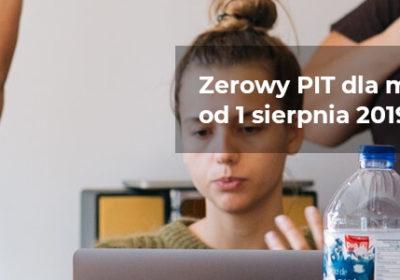 Zerowy PIT dla młodych już od 1 sierpnia 2019 roku